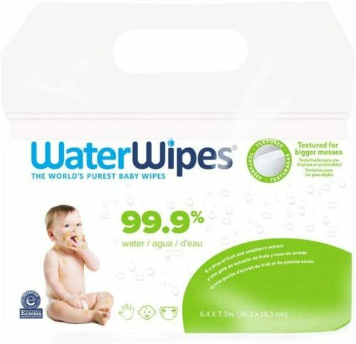 WaterWipes Textured, Sensitive, Unscented Baby and Toddler Soapberry,  240 Wipes