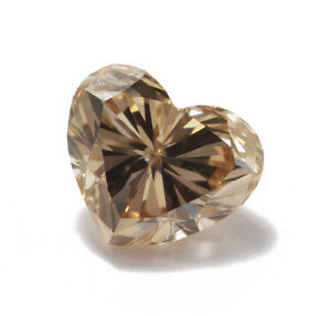 Brown Loose Natural Color Diamond - 0.21ct Fancy Orange Brown Heart VVS1