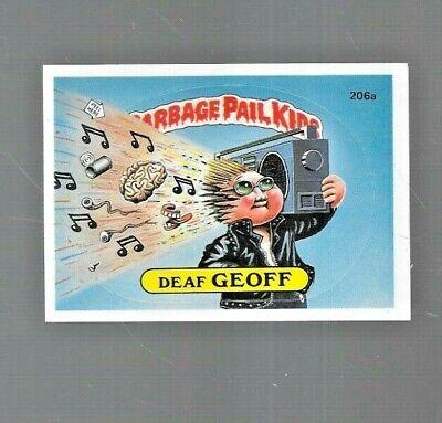 "1986 Garbage Pail Kids "" DEAF GEOFF "" artist Fay Lynn autographed card "" # 206a"