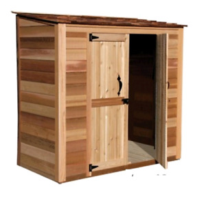 Outdoor cedar wood shed 6x3 ft