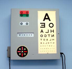 Traditional Vintage Optician Eyesight Test Chart Lightbox - Optometry, Optician