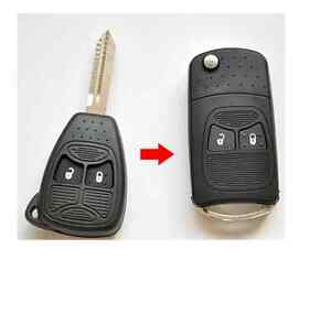 2 buttons remote Grand Cherokee flip Key case shell For JEEP CHRYSLER DODGE