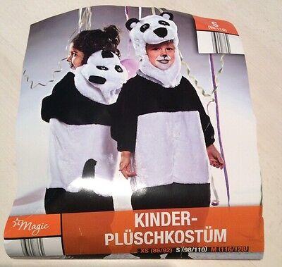 Panda mit Kapuze Kinderkostüm Gr S (98/110) Fasching Karneval  Halloween