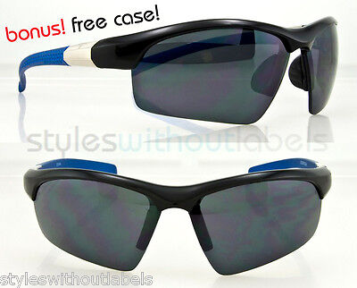 New Mens Sport Design Sunglasses Wrap Frame Shades Outdoor Cycling Smoke Lens UV