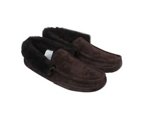 UGG Men's Suede Slippers Size 10 - Brown Colour