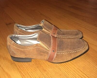 BACK STAGE by SKECHERS Suede Oxfords Saddle Loafers LEATHER Shoes Mens Sz 8 #, used for sale  Madison Heights