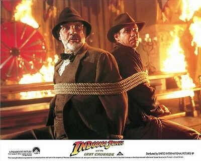 INDIANA JONES & the LAST CRUSADE lobby card #1  SEAN CONNERY, HARRISON FORD