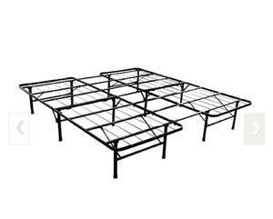 Full/twin steel bed frame