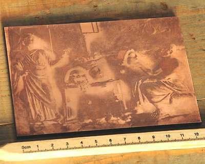 ANTIKE Galvano Druckstock Kupferklischee Druckplatte Druckerei Bleisatz Druck