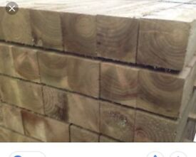 Railway sleepers new pressure treated