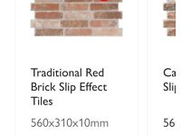 Red Brick effect tiles