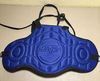 Macho Chest Protector Taekwondo Martial Arts Light Sparring Blue Lightweight