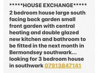 Mutual exchange 2bed for 3bed