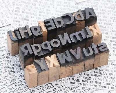 A-z Mixed Alphabet 0.43 Letterpress Wooden Printing Blocks Wood Type Vintage