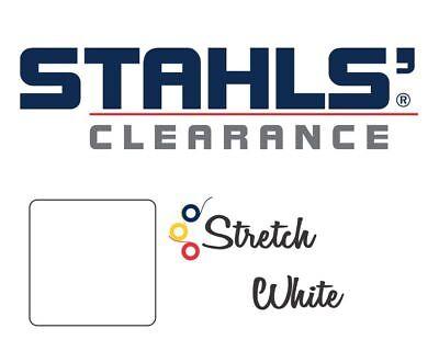 15 X 5 Yards - Stahls Stretch Heat Transfer Vinyl Htv - White