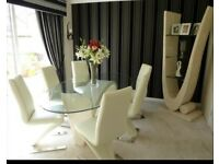 Dining table and chairs +display unit+ coffee table