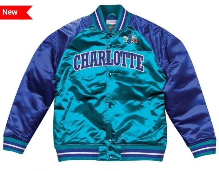 sports shoes 47cfe 1edc2 Details about Authentic & Mitchell & Ness CHARLOTTE HORNETS NBA Tough  Seasons Satin Jacket