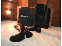 Dune Ladies Leather Boots Size 7, Black, Brand New in Box cost £120