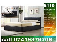 DOUBLE storage leather Bed Set with Mattress,single Kingsize available