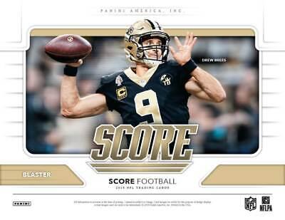 9976dba4d 2019 Panini SCORE Football NFL Cards 132c Retail BLASTER Box - Mem  Card Gold PC
