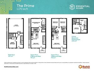 Amazing 3 Bedroom Townhome starting at $280,000's