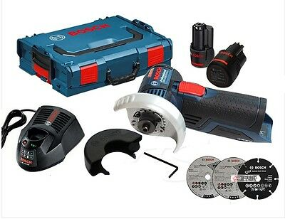 """Bosch GWS 10.8-76 V-EC Professional Cordless 3"""" Angle Grinder 2.0Ah 2x - Fedex"""