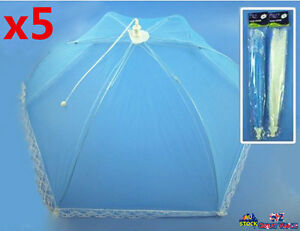 5x Jumbo Foldable Mesh Food Cover Lace Net Insect Fly Tent Kitchen 73cm 03357