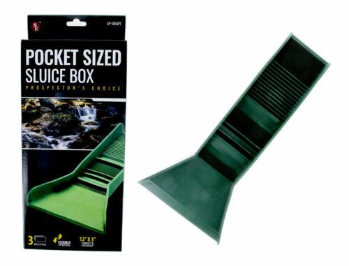 """Pocket Sized TPR Plastic Green Sluice Box - 12""""X3""""x5.5"""""""