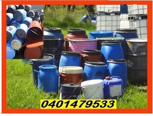 Drums.All sizes.Steel&Plastic(Delivery*)-Food Grade 20L,30L40L,60 Penrith Penrith Area Preview