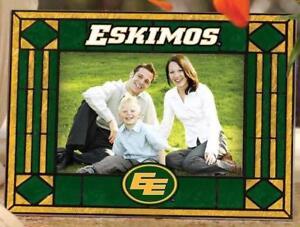 Edmonton Eskimos Art Glass Horizontal Picture Frame (New) Calgary Alberta Preview
