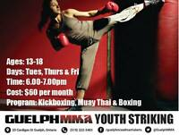 New Program at Guelph MMA, Youth Striking.