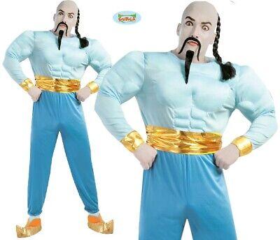 Herren Muskel Lampe Genie Kostüm Aladdin Jeenie Neu Fg (Aladdin Genie Kostüm)