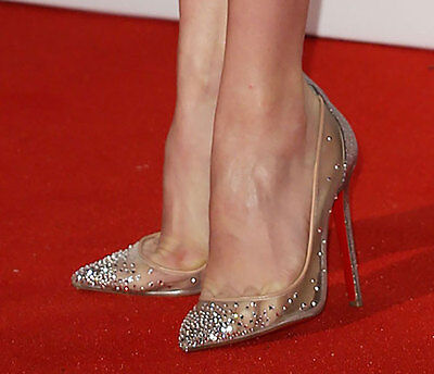 Christian Louboutin Red Carpet Bridal Crystal-Embellished Follies Strass Pumps