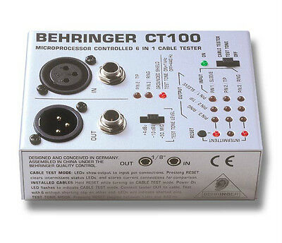 NEW BEHRINGER CT100 Cable Tester BEST OFFER!!