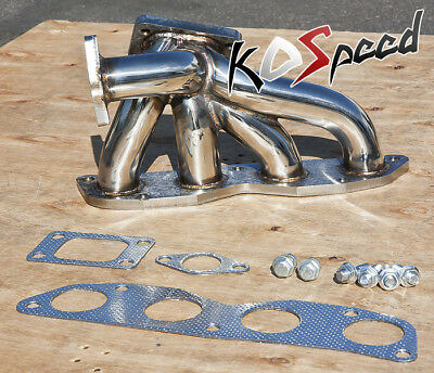 FOR HONDA K-SERIES K20 STAINLESS TUBULAR TOP MOUNT TURBO MANIFOLD T3 38mm - Tubular Turbo Manifold
