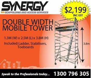 Aluminium Scaffold -  Wide 1.3 x 2.5 x 3.8 Revesby Bankstown Area Preview