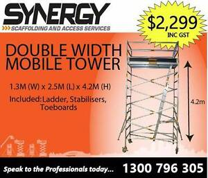 Aluminium Scaffold -  Wide 1.3 x 2.5 x 4.2 (Brand New) Cromer Manly Area Preview