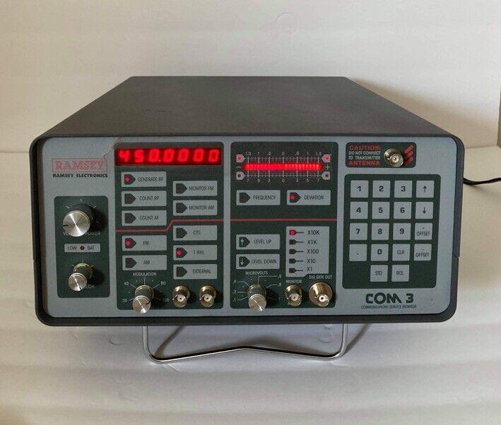 Ramsey COM 3 Communications Service Monitor w Case/Bag & Manual Com3