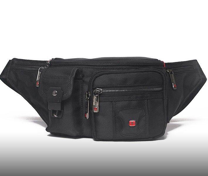 Travel Gear Waterproof Men Waist Bag Swiss Quality Fanny Pac
