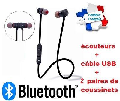 Bluetooth Auriculares Magnético 4.1 sin Hilos Casco + Cable USB + 2...