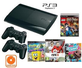 PS3 Super Slim 500GB HDD FOR KIDS GAMES BUNDLE