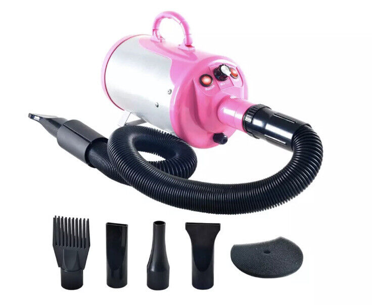 New Shelandy Professional Pet Dryer Pink STL1902 3.2HP Stepless Variable speed