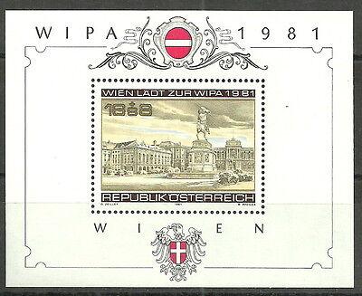Österreich - Briefmarkenausstellung WIPA 1981 postfrisch 1981 Block 5 Mi. 1665