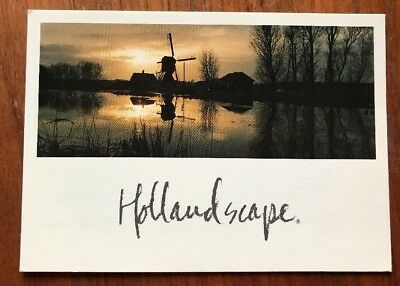 Holland Scape Postcard Windmill Jaap Bongers 1989 VG Condition unposted