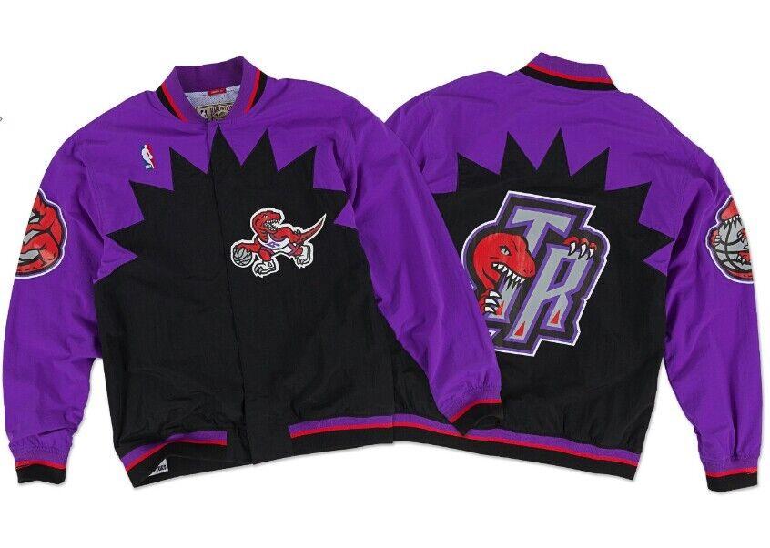 buy popular fd960 64302 Details about Authentic 1995-96 NBA Mitchell & Ness Toronto Raptors Vintage  warm-up Jacket