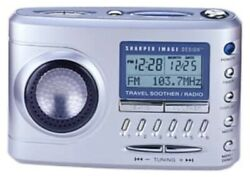 SHARPER IMAGE TRAVEL SOOTHER 20 CLOCK RADIO MODEL # SI621 FACTORY RECONDITIONED