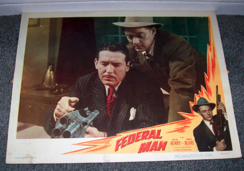 FEDERAL MAN/U.S. TREASURY AGENT 11x14 ROBERT SHAYNE orig 1950 lobby card poster