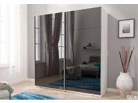 Delivery 1-10 days Brand New 150cm or 200cm White, Black, Wood SLIDING DOOR WARDROBE