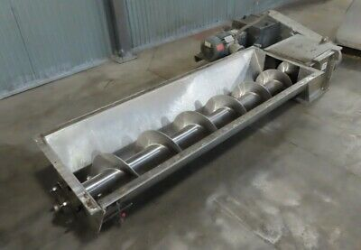12 X 93 Stainless Steel Screw Conveyor Auger  With Drive  Heavy Duty
