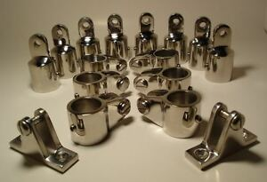 4-Bow-1-Bimini-Top-Boat-Stainless-Steel-Fittings-Marine-Hardware-Set-16-piece